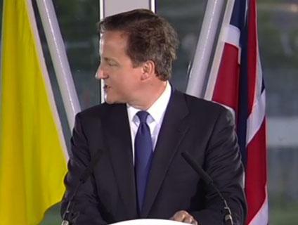 Prime Minister David Cameron's speech to Pope Benedict XVI